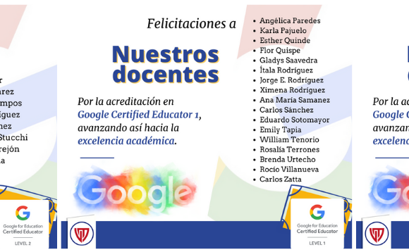 Docentes: Google Certified Educator